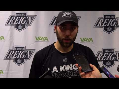 Ontario Reign - Coach Stothers, Mike Amadio & Sean Walker - Postgame