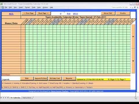 Team Availability Calendar (TAC) - YouTube