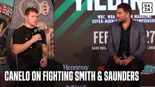 """Easy Work!"" Eddie Hearn Reveals What Canelo Said About Facing Callum Smith & Billy Joe Saunders"
