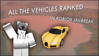 Classement des véhicules à Roblox Jailbreak
