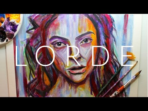 LORDE MELODRAMA ALBUM COVER INSPIRED WATERCOLOR + ACRYLIC PAINTING