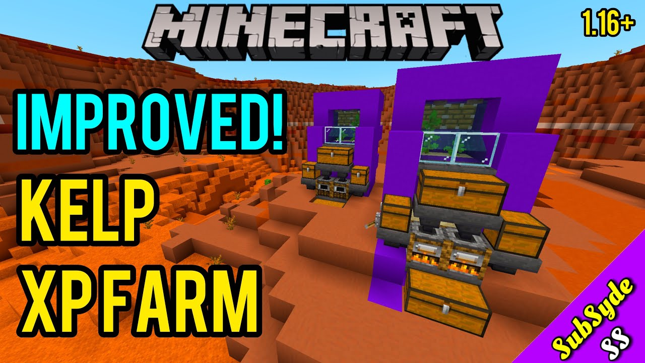 How To Build And Fix A Kelp Xp Farm On Minecraft Bedrock 1 16 Mcpe Xbox Ps4 Switch Windows 10 Youtube