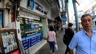 Walking in Bangkok, Thailand   Si Lom Road, Lumphini Park Series Part 2