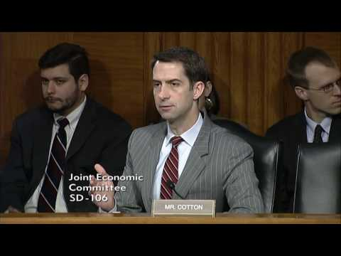 May 17, 2017: Sen. Cotton  Q & A at Joint Economic Committee Hearing
