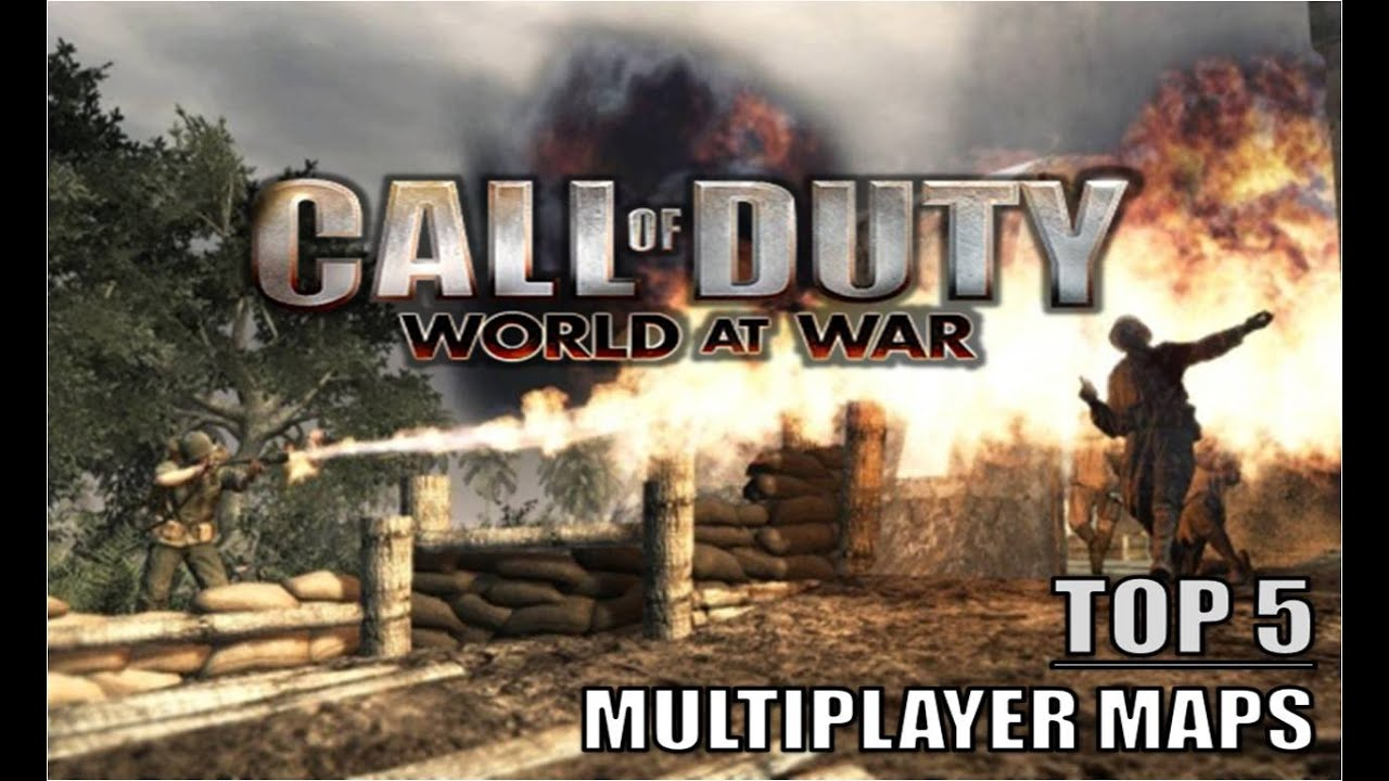 Call of Duty: World at War - TOP 5 BEST MULTIPLAYER MAPS - YouTube
