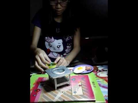 Play doh,cara membuat nasi campur dari lilin