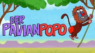 Gambar cover ♪ ♪ Kinderlied Affe - Der Pavianpopo - Hurra Kinderlieder