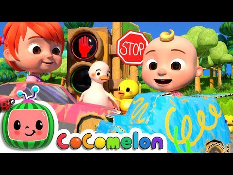 Traffic Safety Song  CoCoMelon Nursery Rhymes & Kids Songs