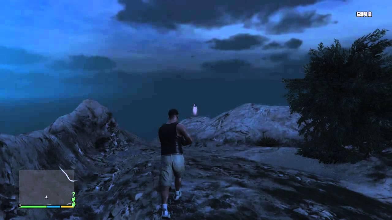GTA 5 EASTER EGG GHOST(DESTINATION,TIME) - YouTube