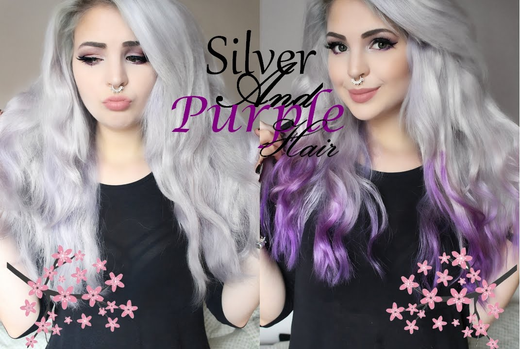 How To Silver And Purple Hair By Icy Mary Arctic Fox