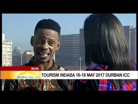 Founder of Lebo's Soweto Backpackers at Tourism Indaba 2017 in Durban