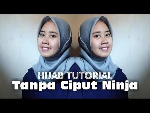 Tutorial Hijab Segi Empat Tanpa Ciput Ninja 9 Style Hijab Simple Youtube