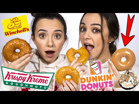 Can We Find The Krispy Kreme? Donut Taste Test BLINDFOLDED! (GAME) Merrell Twins