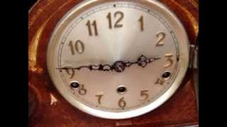 Vintage Old Mantle / Mantel clock Westminster Striking + Key  Pendulum See Video