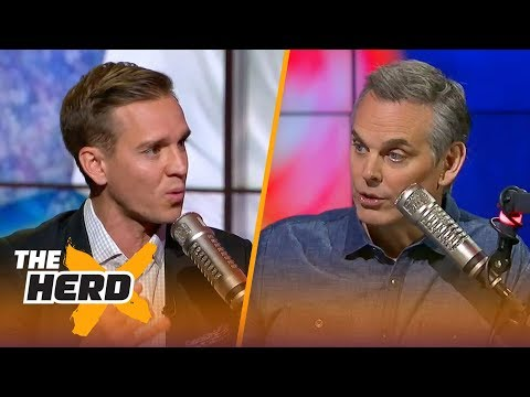 Stu Holden and Colin Cowherd talk Messi & Ronaldo 100 Days out from the 2018 World Cup | THE HERD