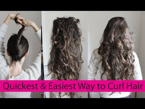 How To Curl Your Hair Without Heat Or A Curling Iron Lazy Curls For
