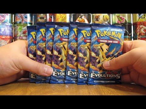7 Pokemon XY Evolutions Booster Pack Opening