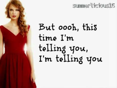 Taylor Swift Song We Are Never Getting Back Together Lyrics