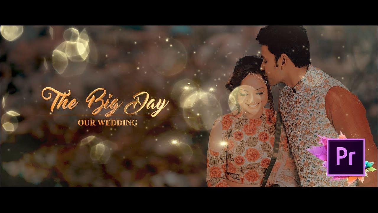Wedding Invitation Video With Golden
