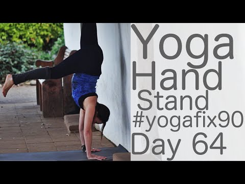 32 Minute Yoga Handstands Yay!! Day 64 Yoga Fix 90 with Fightmaster Yoga