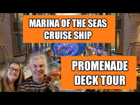 Tour of the Promenade on the cruise ship Mariner of the Seas