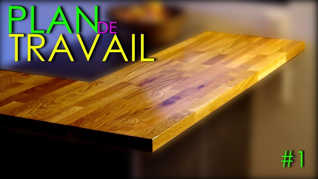 diy plan de travail bois massif ilot central mange debout cuisine amenagee sur mesure episode 14