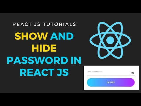 Show and Hide password text field in react js | Toggle show/hide password in reactjs thumbnail