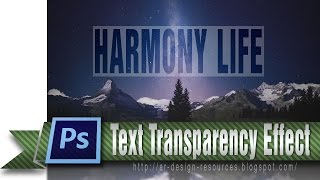 Text Transparency Effect — Photoshop Tutorial