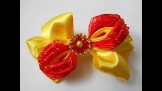 Бант из лент МК/ DIY Ribbon bow/ Um arco de fita. Tutorial. #75