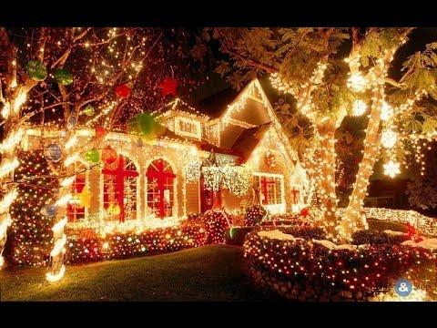 США Как украшают дома на Рождество Ночная жизнь в
