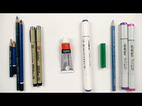 My Journey from a PENCIL to COPIC Sketch Markers (SURPRISE)