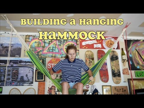 how to build a hanging hammock into the ceiling