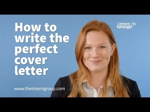 How To Write A Cover Letter - The Intern Group