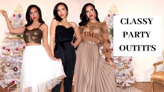Classy Party Outfits Lookbook : 5 outfits ideas for Christmas and New Year's Eve