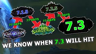Each Legion Patch Is 77 Days Apart - So We Know When 7.3 Is Coming... thumbnail