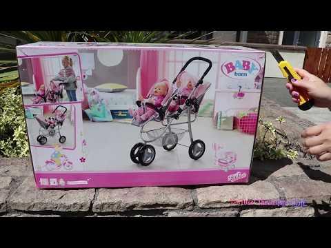 5 Baby Born Baby Dolls Jogger Pram Stroller Nursery Toys and Baby Born Baby Annabell Dolls Fun Play