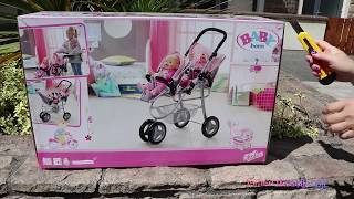5 Baby Born Baby Dolls Jogger Pram Stroller Nursery Toys and Baby Born Baby Annabell Dolls Fun Play