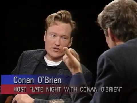 Conan O'Brien expresses his excitement over his new job on Charlie Rose