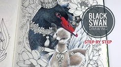 THE BLACK SWAN - PART 1: Step By Step How To Draw Swan