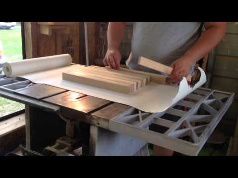 making a butcher block cutting board,