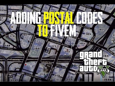Adding Postal Codes To Your FiveM Map - GTA V Five M