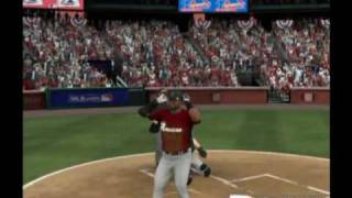 MLB 09 The Show David Ortiz lets go of the bat