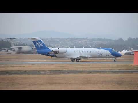 Nav Canada Bombardier CRJ-200ER [C-GNVC] Takeoff From YXX