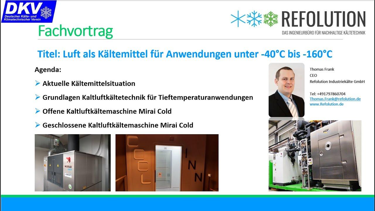 Fachvortrag über die Anwendungen der Kaltluftkältemaschinen von Mirai Intex