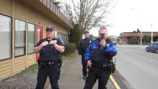 Filming Police. Auburn, WA. (Interaction and Dialogue) (Open Carry) (Public Photography)