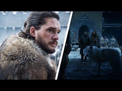 Jon Snow says goodbye to Ghost