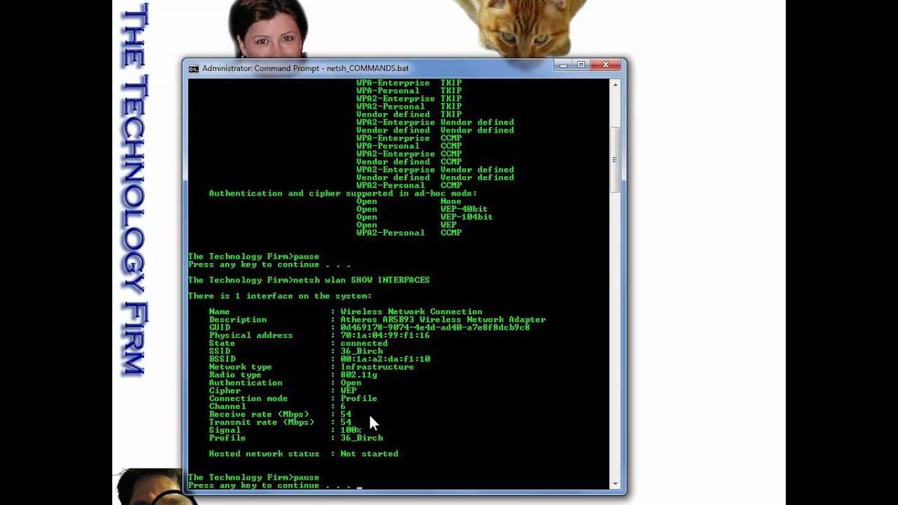 More Windows Wlan Commands