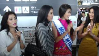 Miss Universe Thailand 2013 say thank you to her fans