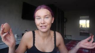 q+a, makeup routine, dying hair PURPLE + eating food lol