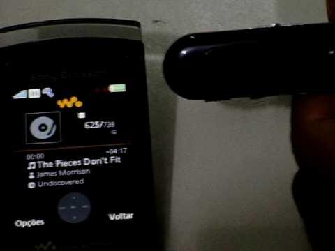 Teste Fone de ouvido bluetooth em Sony Ericsson W980